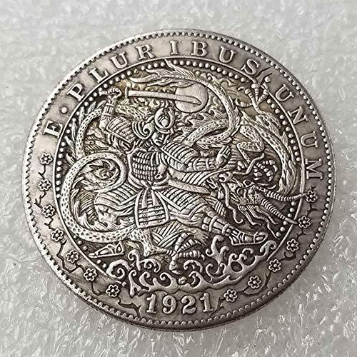 YunBest Best Morgan Silbermünzen - 1921 Hobo Nickel Münze - alte Münze zum Sammeln - Silber-Dollar USA Old Morgan Dollar - überzogene Silbermünzen BestShop -