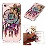 iphone 7 Case, iphone 7 Silicone TPU Transparent Cover, Cozy Hut iphone 7 Luxury Shining Bling Printing Drawing Design Scratch Resistant TPU Bumper Clear Flexible Silicone Back Soft Protective Case Cover for iphone 7 - Flower bells