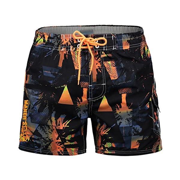design senza tempo 673c4 0c960 JEELINBORE Uomo Costumi da Bagno Corti Sport Tempo Libero Pantaloncini  Calzoncini per Mare Piscina Spiaggia