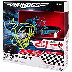 Air Hogs Hyper Drift Drone (2 in 1) Blue Hybrid quadcopter - juguetes de control remoto (AAA, 340 g, 304,8 mm, 108 mm, 304,8 mm, 845 g)