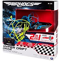 Air Hogs 2-in-1 Hyper Drift Drone for Kids, Capable of High Speed Racing and Flying - Blue