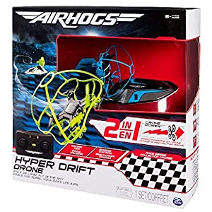 Spin Master Air Hogs Hyper Drift Drone (2 in 1) Blue Hybrid Quadcopter - Juguetes de Control Remoto (AAA, 340 g, 304,8 mm, 108 mm, 304,8 mm, 845 g)