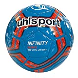 uhlsport Herren Infinity 290 Ultra LITE Soft Bälle, Cyan/Marine/Fluo rot, 3.0