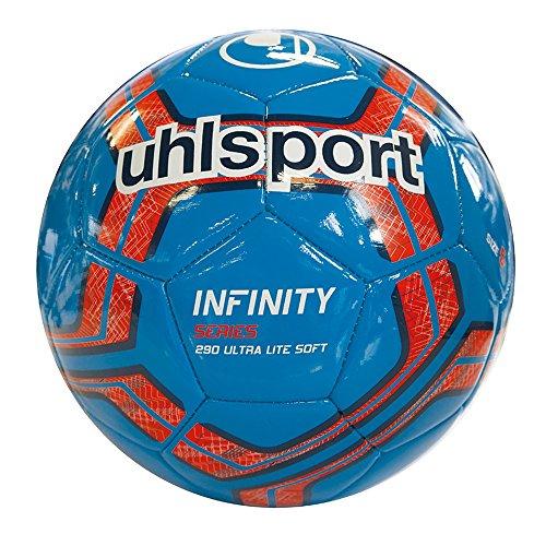 uhlsport Herren Infinity 290 Ultra LITE Soft Bälle, Cyan/Marine/Fluo rot, 5.0 Infinity Marine