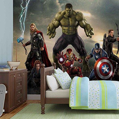 Marvel Avengers Kampf - Forwall - Fototapete - Tapete - Fotomural - Mural Wandbild - (3361WM) - XXL - 312cm x 219cm -...