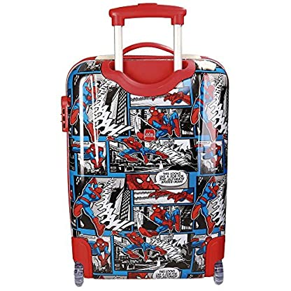 Spiderman Comic Equipaje Infantil, 55 cm, 34 Litros, Multicolor