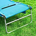 SoBuy® OGS35-B Gartenliege Sonnenliege Relaxliege mit Seitentasche Liegestuhl klappbar Strandliege von SoBuy - Gartenmöbel von Du und Dein Garten