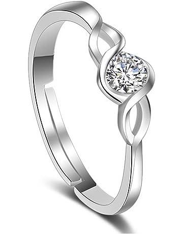 ee1d37e00 Karatcart Platinum Plated Elegant Classic Crystal Adjustable Ring for Women