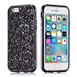 iPhone 6S Handyh�llen Silikon,iPhone 6 H�lle Glitzer,Slynmax Luxus Bling Glitzer Strass Schutzh�lle Weiche Case Protective Crystal Ultra D�nne Soft Ultra d�nne Kratzfest Backcover Case Cover medium image