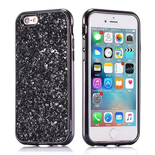 Huphant Cover iPhone 6 Custodia iPhone 6s Silicone Case Ultra Sottile 2-in-1 Struttura Duro Anti-Graffio Phone Case Waterproof con Fashion Design Glitter Diamante
