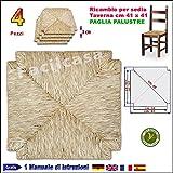 Seduta Fondo in Paglia Palustre Vera FACILCASA Ricambio Sedia cm.41x41 (Nr. 4 Art. 03)