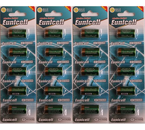 Eunicell Lot de 20 piles alcalines 4LR44 6V
