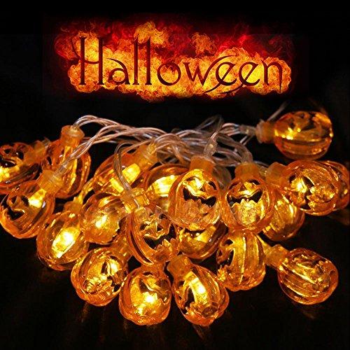 3 Meter orange 3D Kürbis 30 LED-Schnur-Licht-Batterie, fabelhafte Lichte für Heimwerker Halloween-Dekoration ()