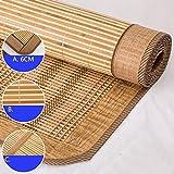 WENZHE Bambus Matratzen Sommer-Schlafmatten Strohmatte Teppiche Zusammenklappbar Doppelseitige Verwendung Student Schlafsaal Zuhause Schlafzimmer Multifunktion, 2 Arten, 9 Größen ( Farbe : B , größe : 0.9×1.9m )