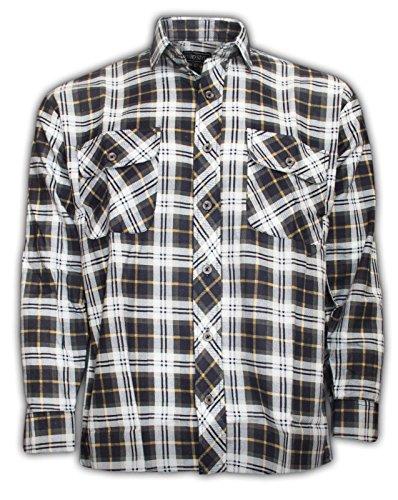 Generic -  Camicia Casual  - Uomo Black & White