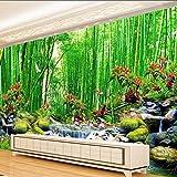 Fushoulu Benutzerdefinierte 3D Fototapete Moderne Bambus Wald Landschaft Wandbild Tapete Wohnzimmer Schlafzimmer Tv Sofa Hintergrund Tapete Wandbilder-120X100Cm