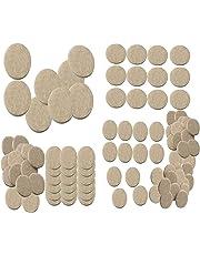 Nourish 100 Pieces Self Sticking Round Felt Pads Non-Skid Floor Protector (Cream, 1.5 x 1 x 0.75 Inch)