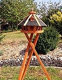 Vogelhaus, Vogelhäuser mit und ohne Ständer behandelt Typ 23 (Schwarz, mit Ständer)