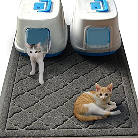 Jumbo Size Cat Litter Mat - (119 x 91 cm) - Extra Large Scatter Control Kitty Litter Mats for Cats Tracking Litter Out of Their Box - Soft to Paws- (Patent