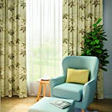 """ChadMade Floral Curtain 90"""" W x 102"""" L, Pinch Pleat Blackout Lining Darpes Panel For Bedroom Living Room Hotel Restaurant (1 Panel), GREY"""