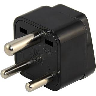 Generic Universal US EU AU UK to India Wall Power Plug Travel Adaptor