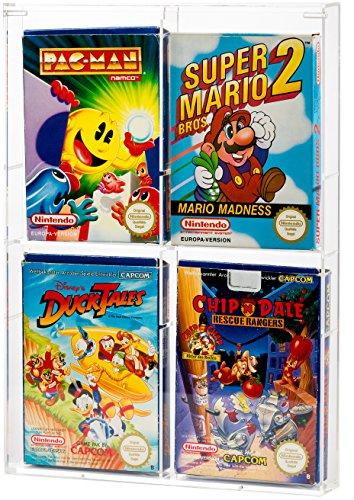 UV Absorptive Acrylbox Wandregal Für NES SNES N64 Game Boy Game Cube SEGA Schutzhüllen Schutz Vitrine Für Spiele Wie Zelda Kirby Mario Kart Donkey Kong Yoshis Island Smash Bros Pokemon