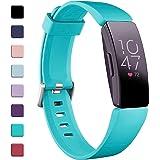 Zekapu Bandje Compatibel voor Fitbit Inspire/Inspire HR/Ace2, Waterdichte Zachte Sportband Vervangende Bandje voor Fitbit Ins