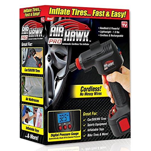 Air Hawk Pro Schnurlose tragbar Air Kompressor, gut ablesbares Digitales Manometer