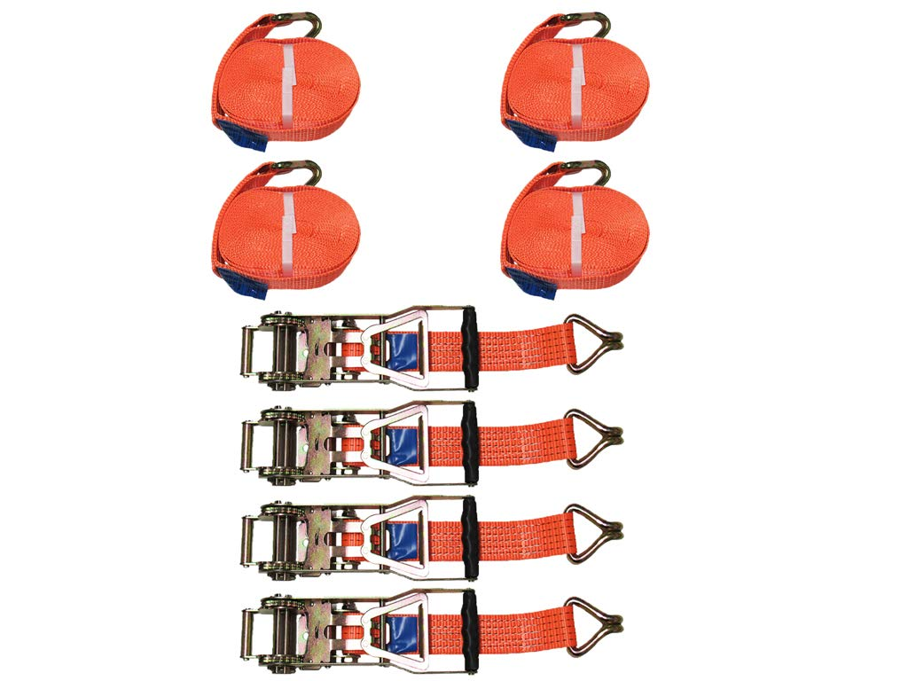 HGV  x 10 Recovery 8mtr With Hooks For Trailers Ratchet tie down Strap 5ton