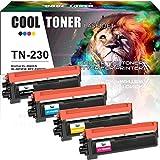 Cool Toner 4-er Kompatibel Toner für TN230 TN-230 TN-230BK TN-230C TN-230M TN-230Y für Brother HL-3040CN HL-3070CW HL-3070CN HL-3045CN HL-3075CW MFC-9010CN MFC-9120CW MFC-9320CW MFC-9125CN MFC-9325CW