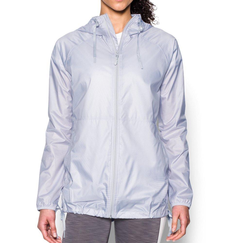 Under Armour UA Leeward giacca antivento, donna, White/Glacier Gray, XL