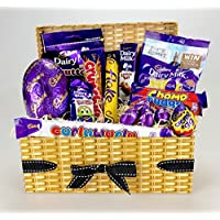 Wow - Our Best CADBURY Easter HAMPER Gift Perfect for any age Easter HAMPER Wicker Effect - Large Variety including Eggs Free Shipping. Sharing Gift