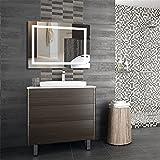 Wefun 100 * 60CM Badspiegel mit Beleuchtung,Badezimmerspiegel mit Beleuchtung,Badezimmerspiegel LED Touch