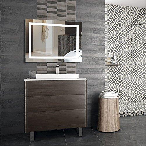 Wefun 100*60CM Badspiegel mit Beleuchtung,Badezimmerspiegel mit Beleuchtung,Badezimmerspiegel LED Touch Touch-led