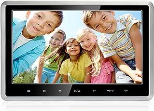MiCarBa Auto DVD-Player 10,1 Zoll 1080 P HD Kopfstütze DVD-Player Monitor Auto Rear Seat Entertainment System für Lange Auto Reisen Unterstützung DVD VCD CD SD USB FM HDMI (CLZ101HD-Silver Rim)
