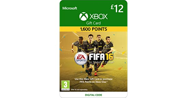 Xbox Live £12 Gift Card: FIFA 16 Ultimate Team [Xbox Live Online