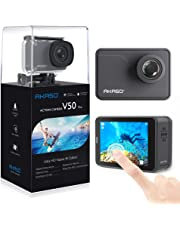 AKASO V50Pro 4K 30 FPS WiFi 20MP Ultra HD with EIS Touch Screen Adjustable View Angle 30 m Waterproof Underwater Action Sports Camera Support External Mic Remote Control with Mounting Accessories