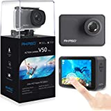 AKASO V50 Pro Native 4K/30fps 20MP WiFi Action Camera with EIS Touch Screen Adjustable View Angle 30m Waterproof Camera Suppo