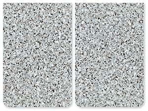 Couvre plaques de cuisson universel granit lot de 2 for Couvre plaques de cuisson