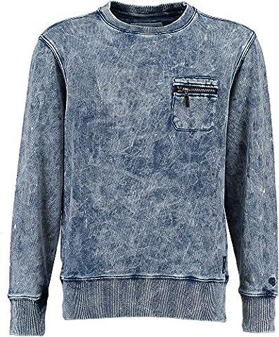 Garcia Kids Jungen Sweatshirt U63466-1050 indigo Gr.140/146