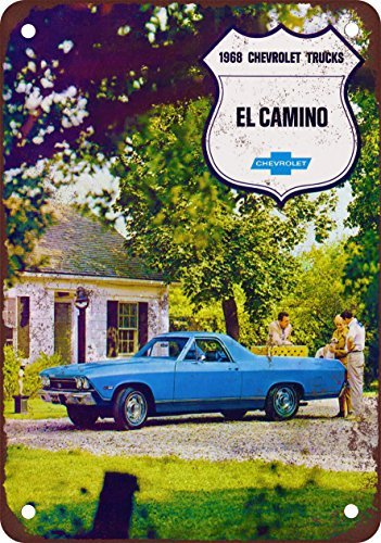 1968-el-camino-vintage-look-reproduccion-metal-tin-sign-8-x-12-pulgadas