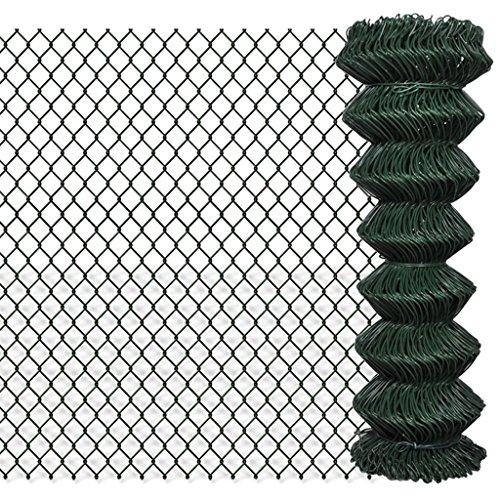 Zora Walter clôture clôture en grillage galvanisée 1,25 x 25 m Clôture Jardin barrières extérieures clôture métallique accessoires clôture Kit Clôture extérieur