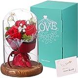 Rosa eterna en cúpula de cristal Rosa Bella y Bestia rosa preservada en cúpula modelo para Amor en el Día de San Valentín par
