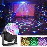 Disco-Licht, Sound aktiviert DJ Bühnenbeleuchtung, 5W 7 Modelle LED Crystal Ball Lights mit Fernbedienung für Partys, Feiertage, DJ, Bars, Karaoke, Hochzeit, Weihnachten, Shows, Pub und Home