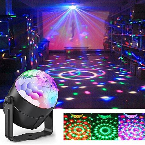 5w Modell (Disco-Licht, Sound aktiviert DJ Bühnenbeleuchtung, 5W 7 Modelle LED Crystal Ball Lights mit Fernbedienung für Partys, Feiertage, DJ, Bars, Karaoke, Hochzeit, Weihnachten, Shows, Pub und Home)