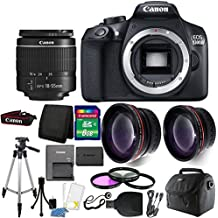 Canon EOS Rebel 1300D / T6 18MP DSLR Camera With 18-55mm EF-S F/3.5-5.6 Is III Lens + 8GB Accessory Kit