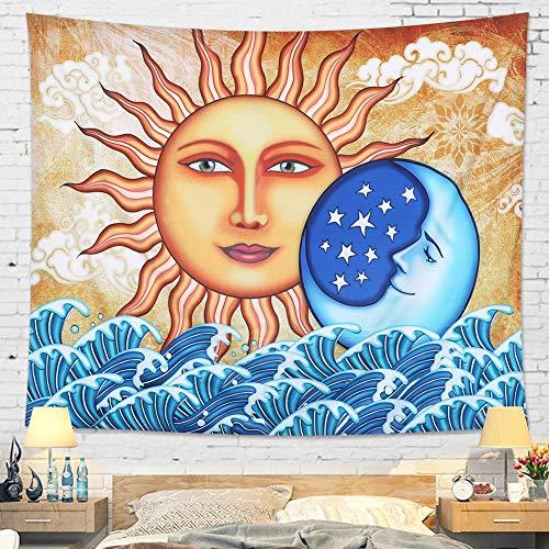 Dremisland Tapiz Luna y Sol Pared psicodélico Colgar tapices Indio Ma