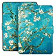 Ayotu Colorful Case for Kindle Paperwhite E-reader Auto Wake/Sleep Smart Protective Cover Case,Fits All 2012, 2013, 2015 and 2016 Versions Kindle Paperwhite,Painting Series K5-09 The Apricot Flower