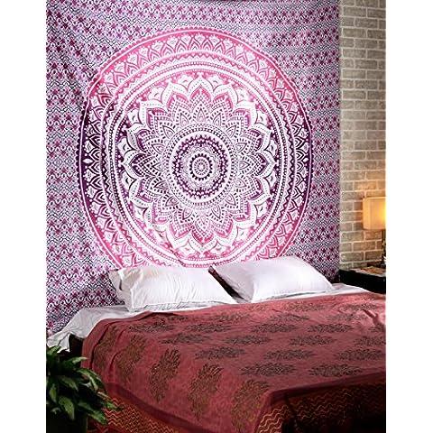 Hippie Mandala Tapices Tapices colgados de la pared de Bohemia colgar de la pared del dormitorio de la India hippie Tapices Tapices florales Ombre Mandala