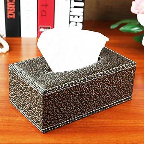 GYMNLJY Intaglio Semplice Pompaggio Vassoio In Pelle Dispenser Caso Home Office Portakleenex